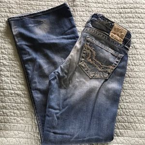 Big star: Casey k, low rise flare jean